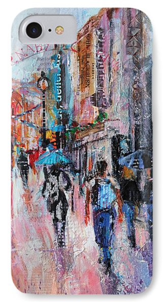 Rainy Day  Carnaby Street IPhone Case by Sylvia Paul