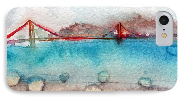 Rainy Day In San Francisco  IPhone Case by Linda Woods