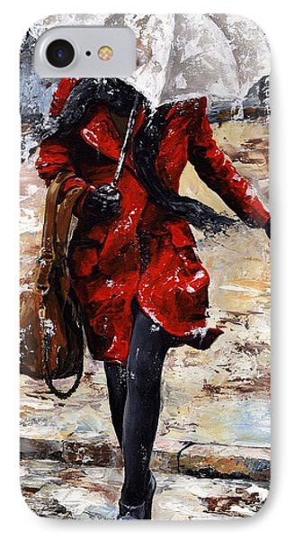 Rainy Day - Woman Of New York 10 Phone Case by Emerico Imre Toth