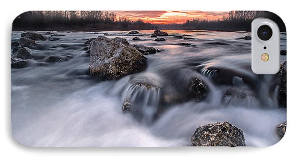 Rapids On Sunset Phone Case by Davorin Mance