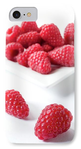 Raspberries IPhone Case by Aberration Films Ltd