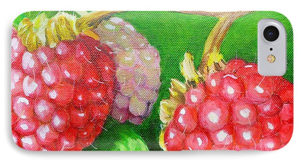 Raspberry Ripening Phone Case by Lorraine Fenlon
