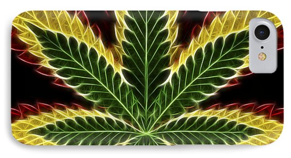 Rasta Marijuana IPhone Case by Adam Romanowicz
