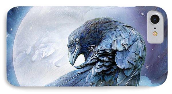 Raven Moon IPhone Case by Carol Cavalaris