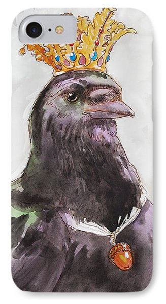 Raven Queen IPhone Case by Tracie Thompson