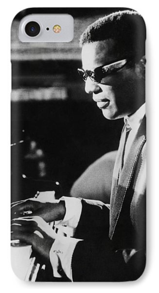 Ray Charles At The Piano IPhone Case by Underwood Archives