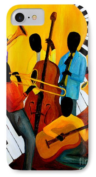 Real Jazz Octet Phone Case by Larry Martin