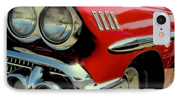 Red 1958 Chevrolet Impala Phone Case by David Patterson