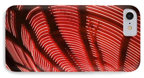Red Abstract Light 15 Phone Case by Tony Cordoza
