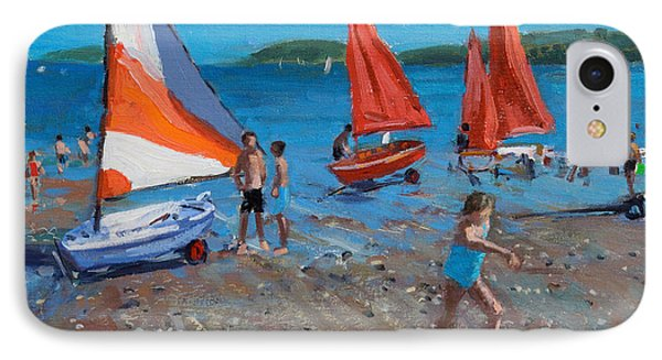 Red And White Sails IPhone Case by Andrew Macara