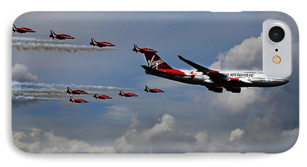 Red Arrows And Lady Penelope IPhone Case by Mark Rogan