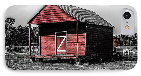 Red Barn  IPhone Case by Steven  Taylor