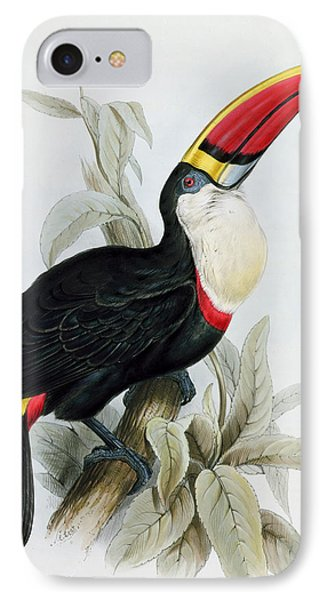 Red-billed Toucan IPhone 7 Case by Edward Lear