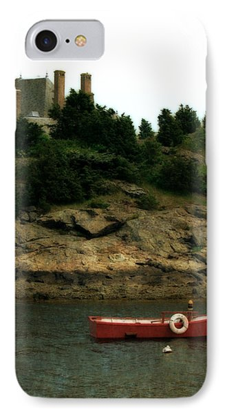 Red Boat In Newport IPhone Case by Michelle Calkins