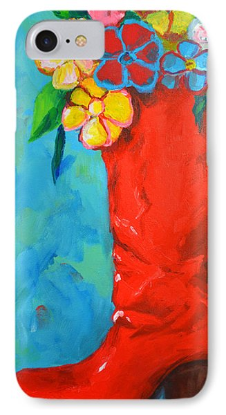 Red Boot With Flowers Phone Case by Patricia Awapara