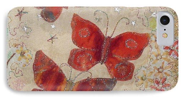 Red Butterflies Phone Case by Hazel Millington