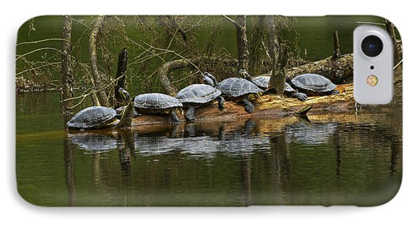 Red-eared Slider Turtles IPhone Case by Sharon Talson