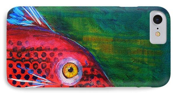 Red Fish IPhone 7 Case by Nancy Merkle