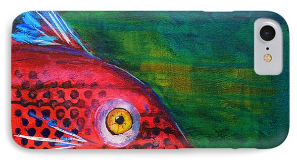 Red Fish IPhone Case by Nancy Merkle