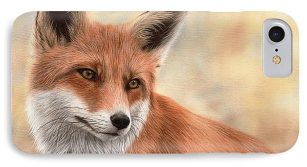 Red Fox Painting IPhone Case by Rachel Stribbling