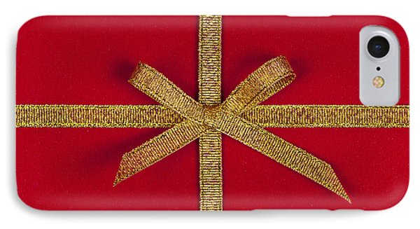 Red Gift With Gold Ribbon Phone Case by Elena Elisseeva