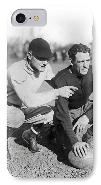 Red Grange And His Coach IPhone 7 Case by Underwood Archives