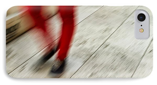 Red Hot Walking Phone Case by Karol Livote