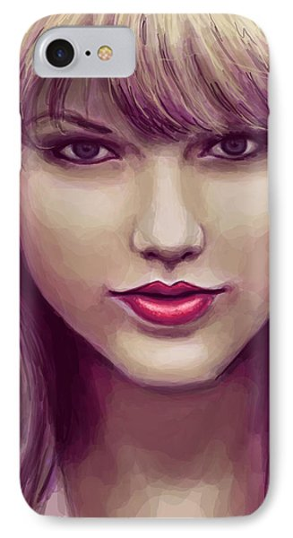 Red IPhone 7 Case by Kendra Tharaldsen-Franklin