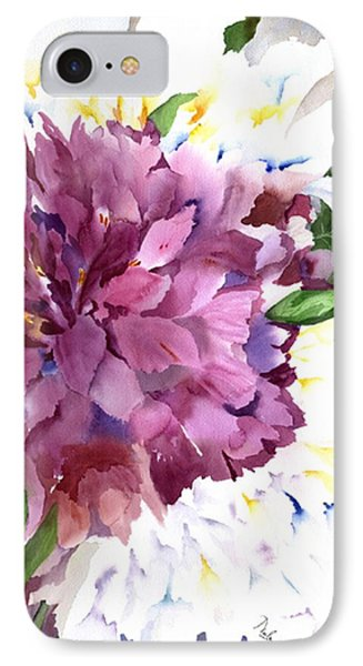 Red Peony IPhone Case by Neela Pushparaj