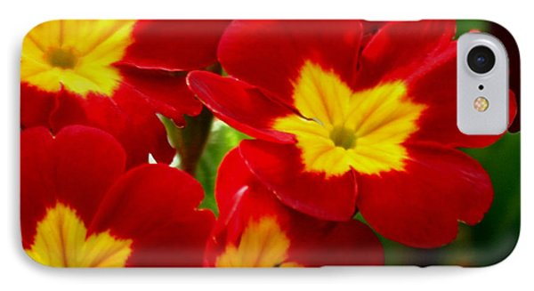 Red Primroses Phone Case by Art Block Collections