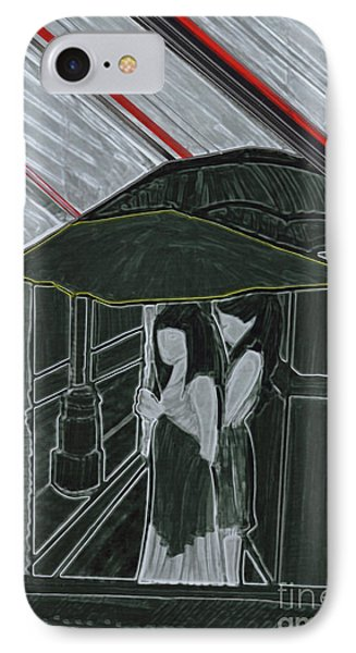 Red Rain Phone Case by First Star Art