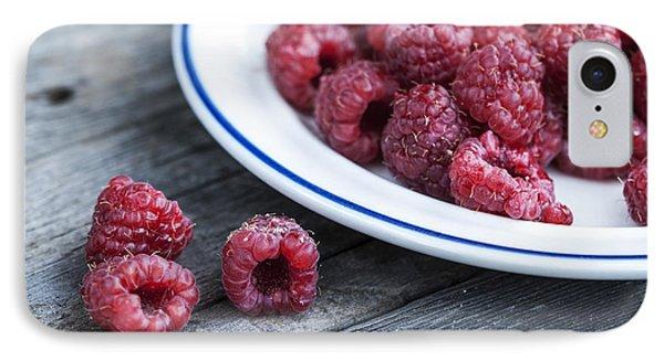 Red Raspberries IPhone Case by Juli Scalzi