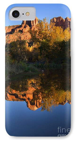 Red Rock Reflections IPhone Case by Mike  Dawson