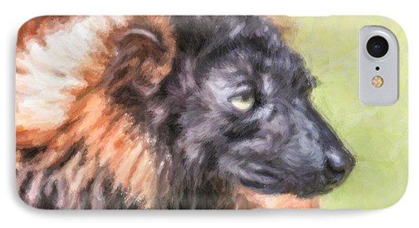 Red-ruffed Lemur IPhone Case by Liz Leyden