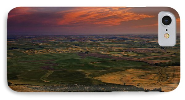 Red Sky Over The Palouse Phone Case by Mike  Dawson