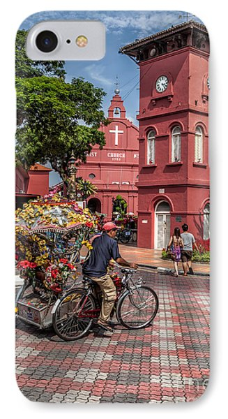 Red Square Malacca Phone Case by Adrian Evans