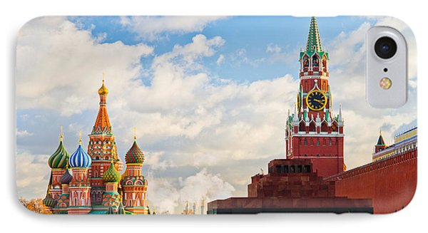 Red Square Of Moscow - Featured 3 Phone Case by Alexander Senin