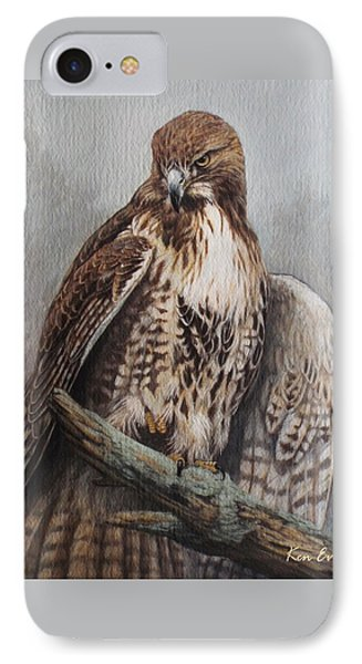 Red Tail Hawk IPhone Case by Ken Everett