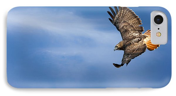Red Tailed Hawk Soaring Phone Case by Bill Wakeley
