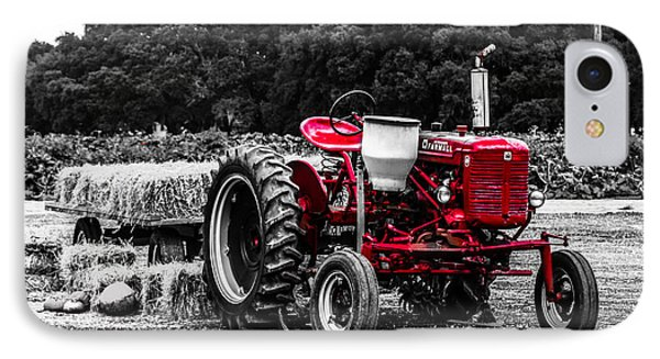 Red Tractor IPhone Case by Steven  Taylor