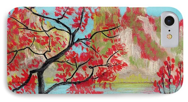 Red Trees IPhone Case by Anastasiya Malakhova