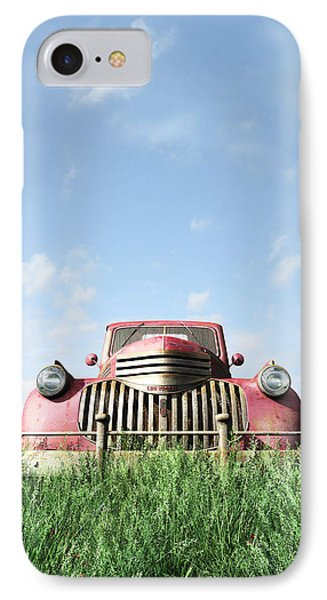 Red Truck IPhone Case by Cynthia Decker
