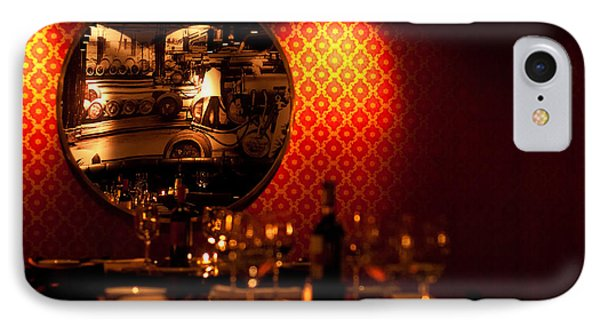 Red Wall And Dinner Table IPhone Case by Jess Kraft