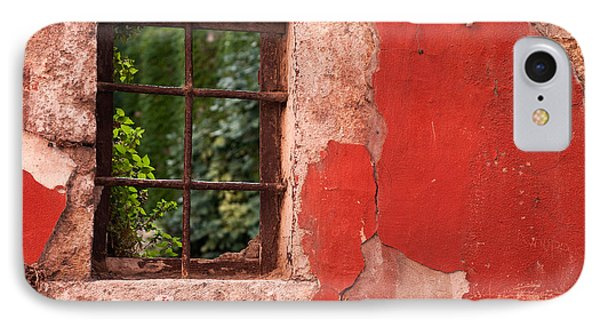 Red Wall Phone Case by Rick Piper Photography