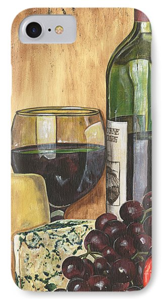 Red Wine And Cheese IPhone 7 Case by Debbie DeWitt