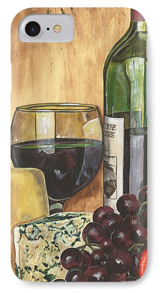Red Wine And Cheese IPhone Case by Debbie DeWitt