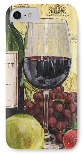 Red Wine And Pear IPhone Case by Debbie DeWitt