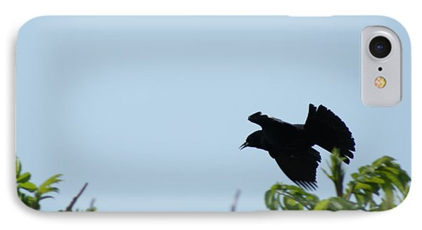 Red Winged Blackbird In Taking Off Phone Case by Andrew Lahay