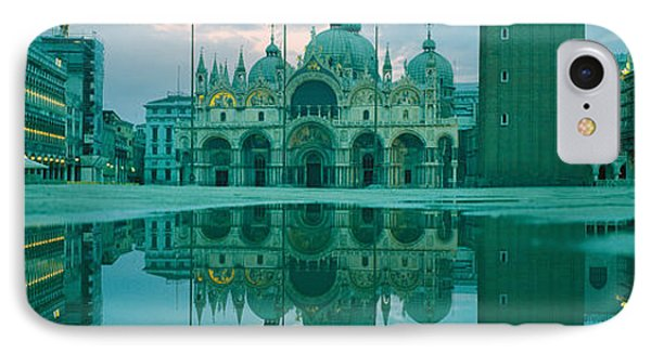 Reflection Of A Cathedral On Water, St IPhone Case by Panoramic Images