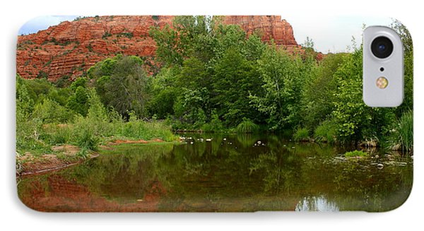 Reflection Of Cathedral Rock IPhone Case by Carol Groenen